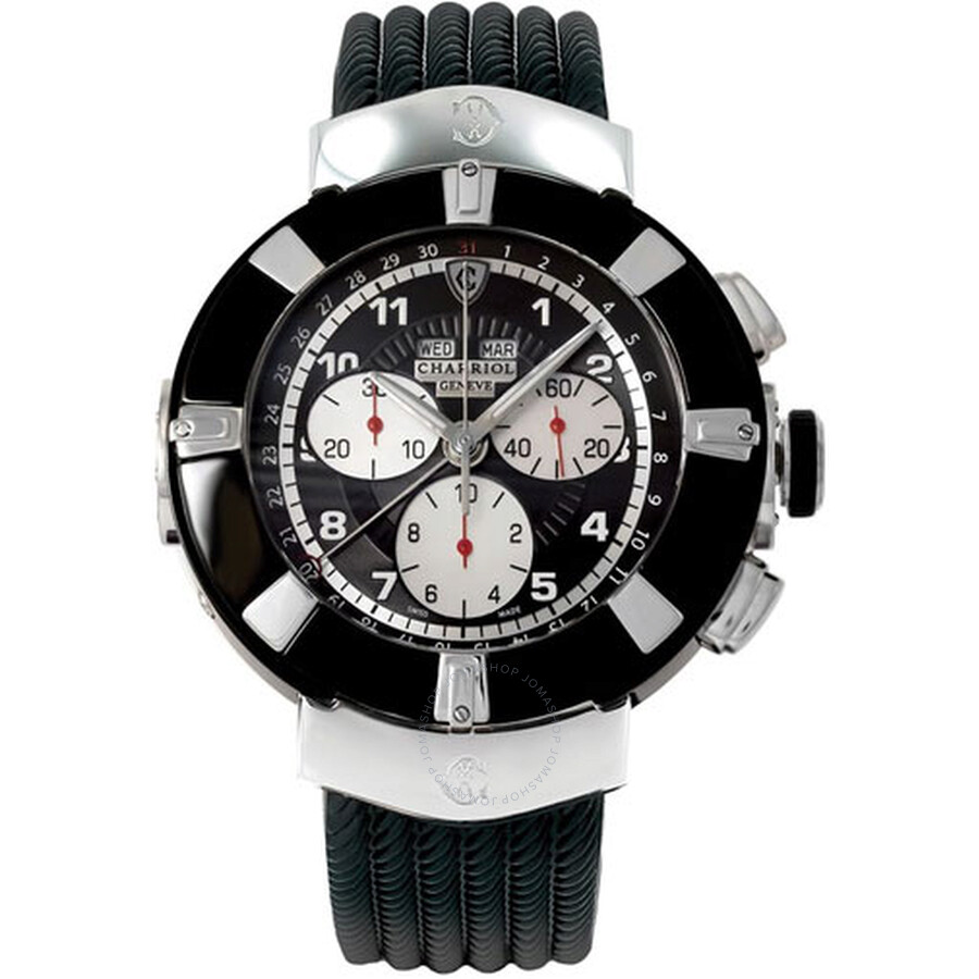 Charriol Celtica Black Dial Chronograph Mens Watch C44B173001