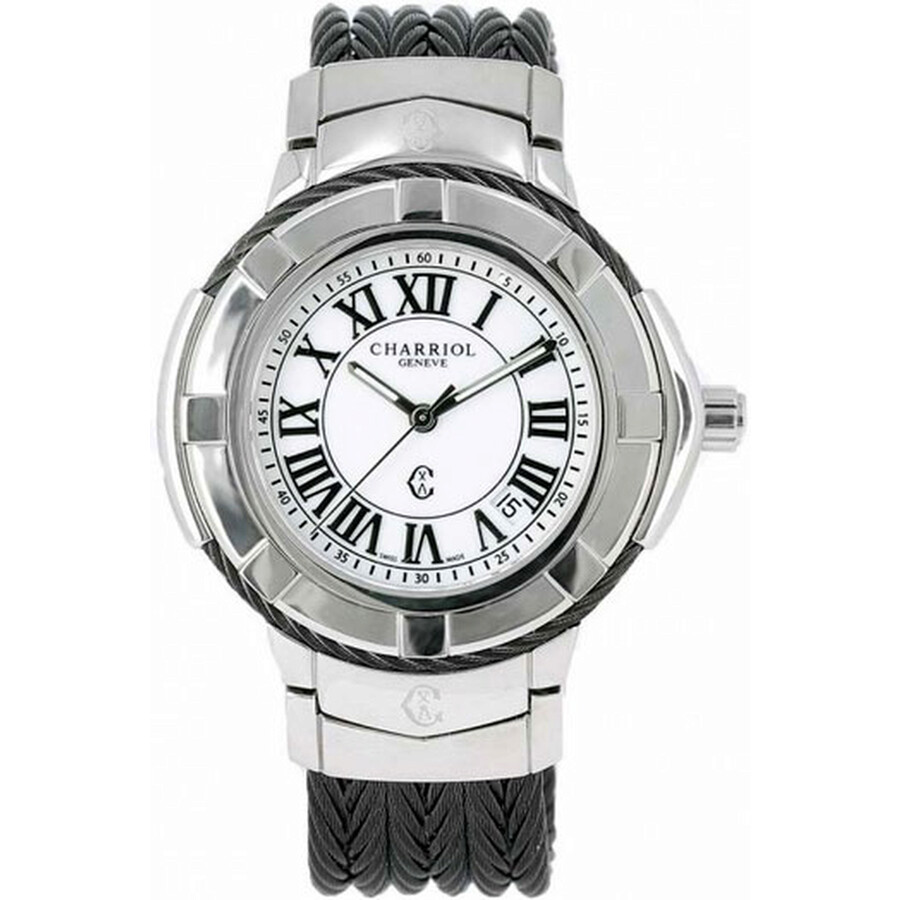 Charriol Celtica White Dial Stainless Steel Mens Watch CE438SB655007