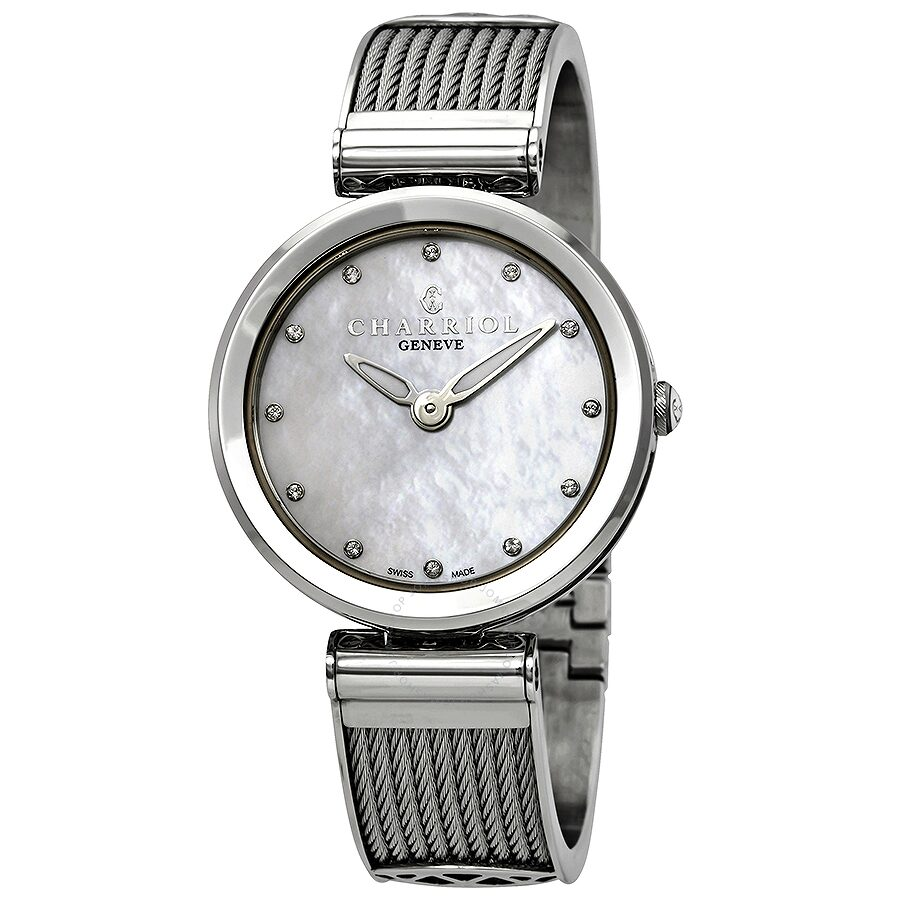 Charriol Forever White Mother of Pearl Dial Ladies Watch FE32.101.000