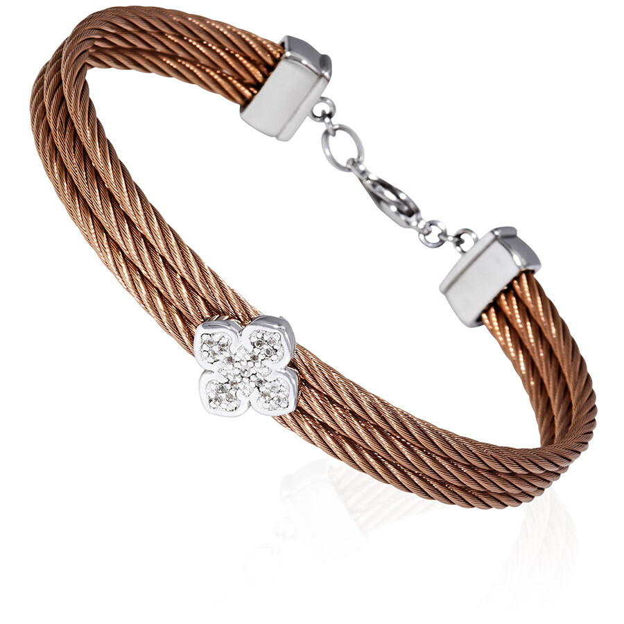 Charriol La Fleur Ladies Rose Gold PVD Bangle Bracelet 04-221-1236-0
