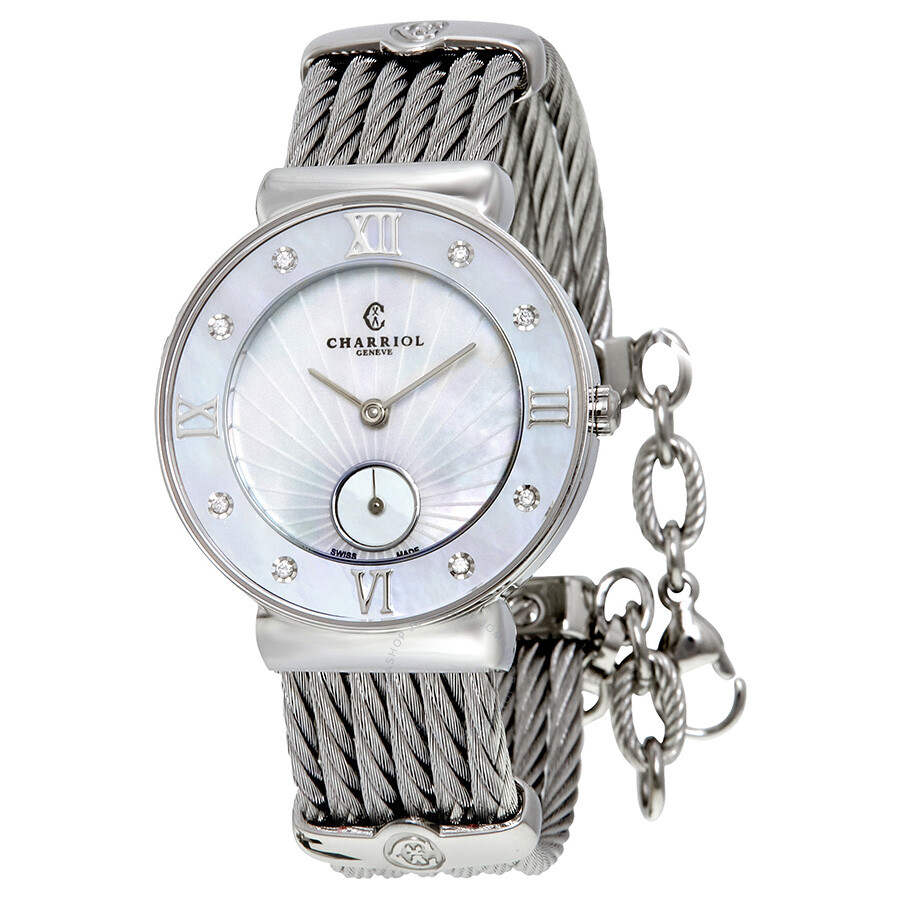 Charriol St Tropez Mother of Pearl Dial Stainless Steel Ladies Watch ST30SD560008