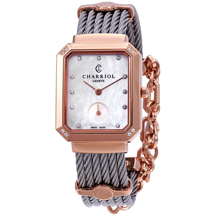 Charriol St. Tropez Mansart Diamond Ladies Watch STREPD2.560.001