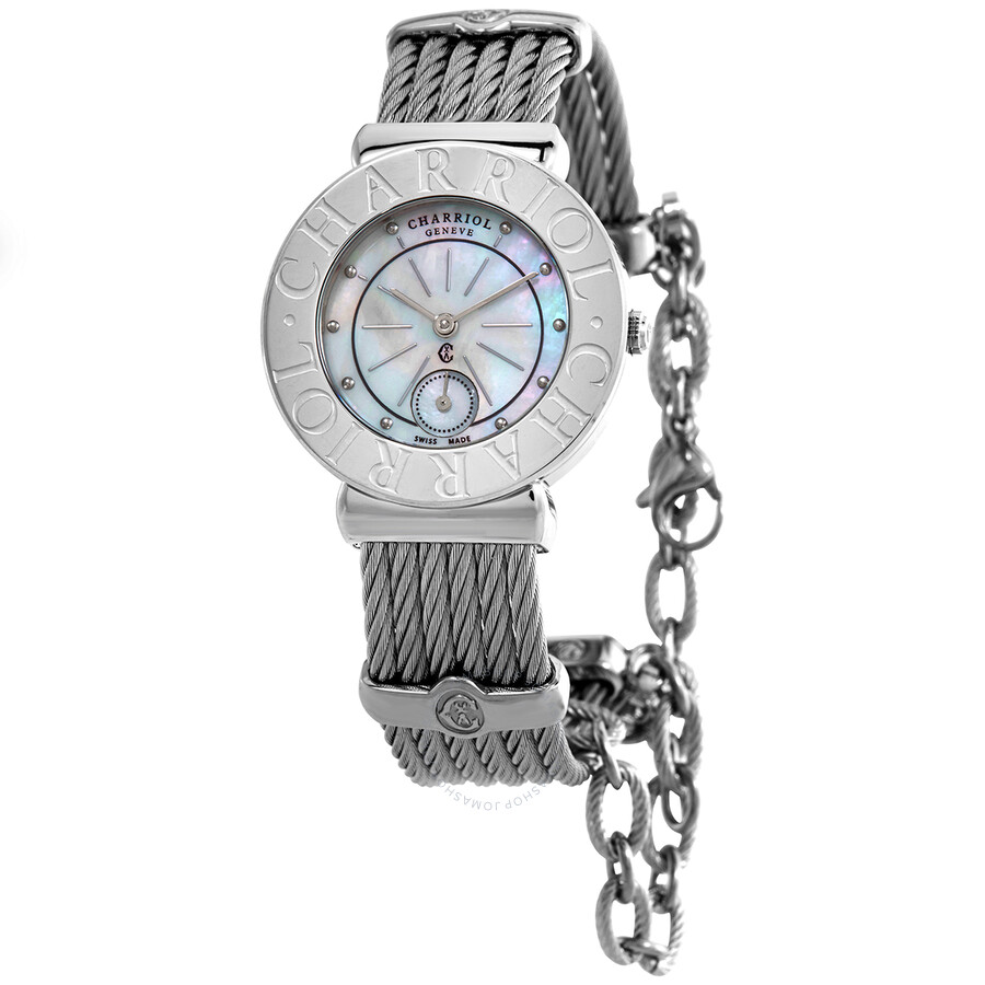 Charrion St Tropez Mother of Pearl Dial Stainless Steel Ladies Watch ST30CS560006