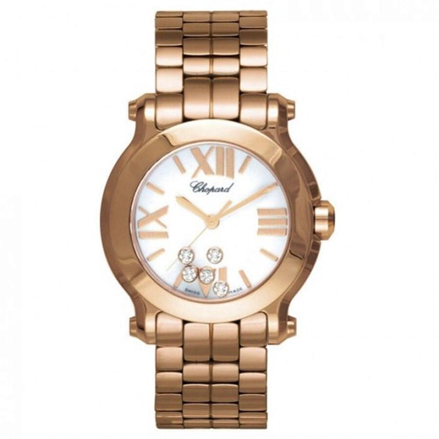 f0dea08ab1e Chopard Happy Sport Diamonds 18kt Rose Gold Ladies Watch 274189-5011