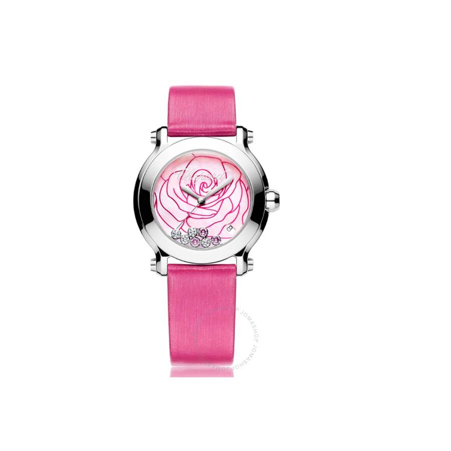 Chopard Happy Sport II La Vie En Rose Pink Rose Dial Pink Satin ...