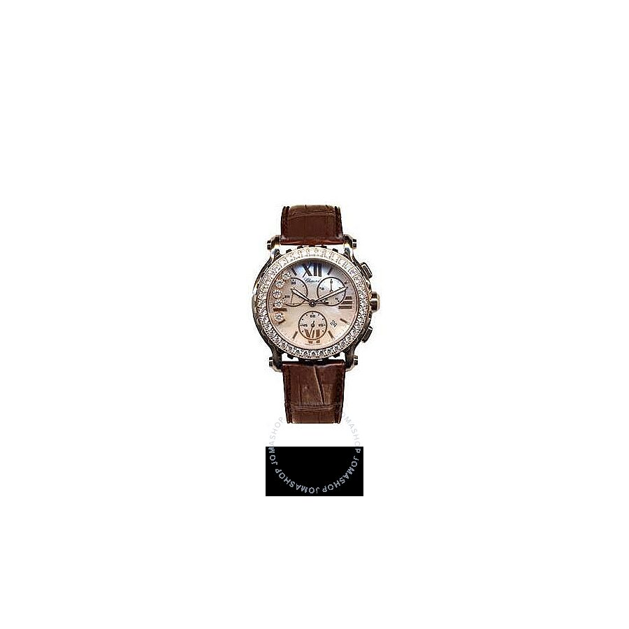 Chopard Happy Sport Mother of Pearl Dial Chronograph Diamond Ladies Watch 283583-5003