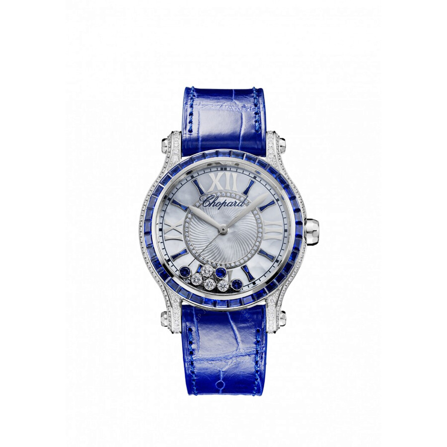 Chopard Happy Sport Mother of Pearl Dial with Diamonds and Sapphires Ladies Watch 274891-1003