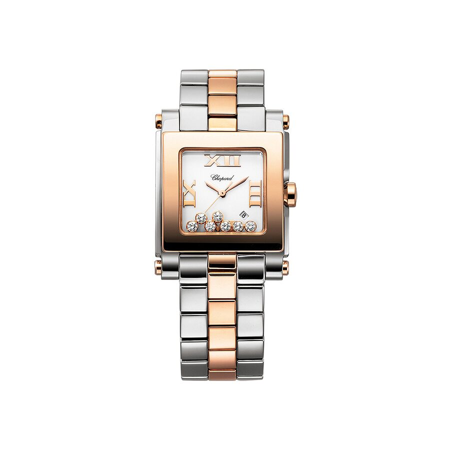 Chopard Happy Sport White Dial Ladies Watch 278498-9001