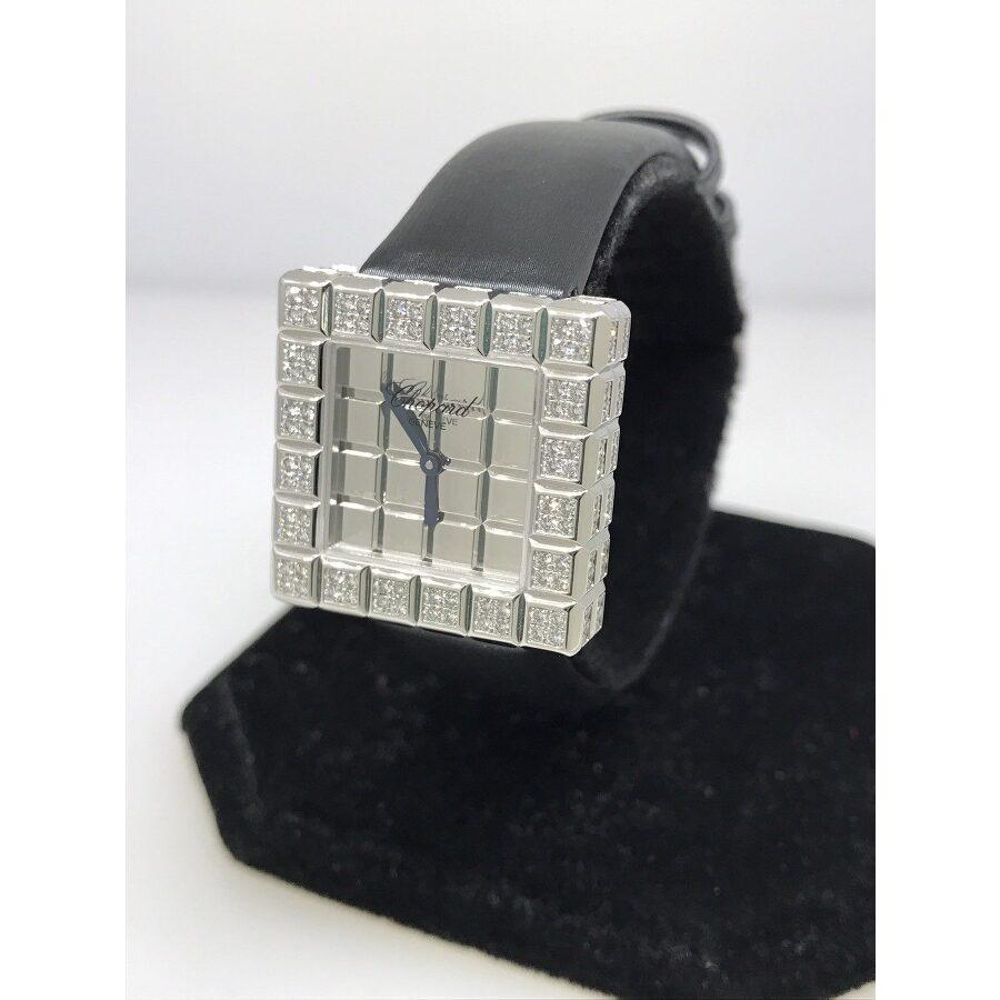 Chopard Ice Cube Mirror Dial Square Ladies Quartz Watch 136815-1001