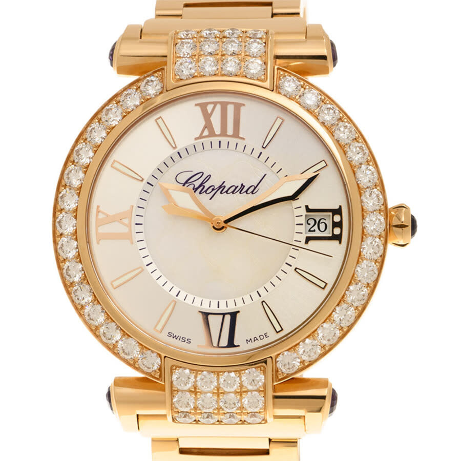 Chopard Imperiale Mother of Pearl Diamond 18kt Rose Gold Ladies Watch 384241-5004