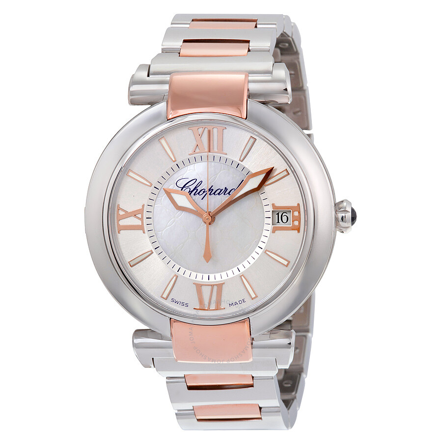 Chopard Imperiale Silver Mother of Pearl Dial Stainless Steel and Rose Gold ..