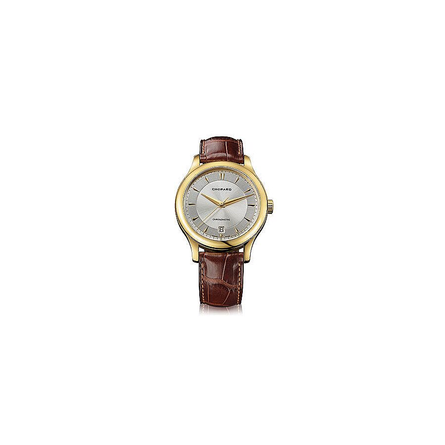 Chopard L.U.C. Classic Automatic Silver Dial 18 kt Yellow Gold Mens Watch 161907-0001