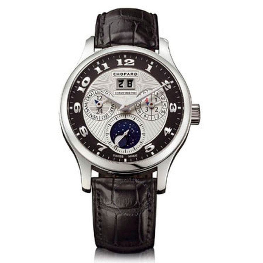 Chopard L.U.C Lunar One Silver and Black Dial Automatic Mens Watch 161894-9001