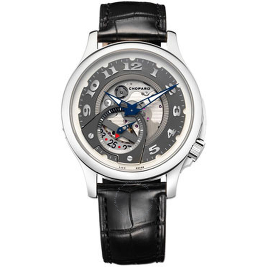 Chopard L.U.C Tech Twist Automatic Open-worked 18 kt White Gold Mens Watch 161888-1002