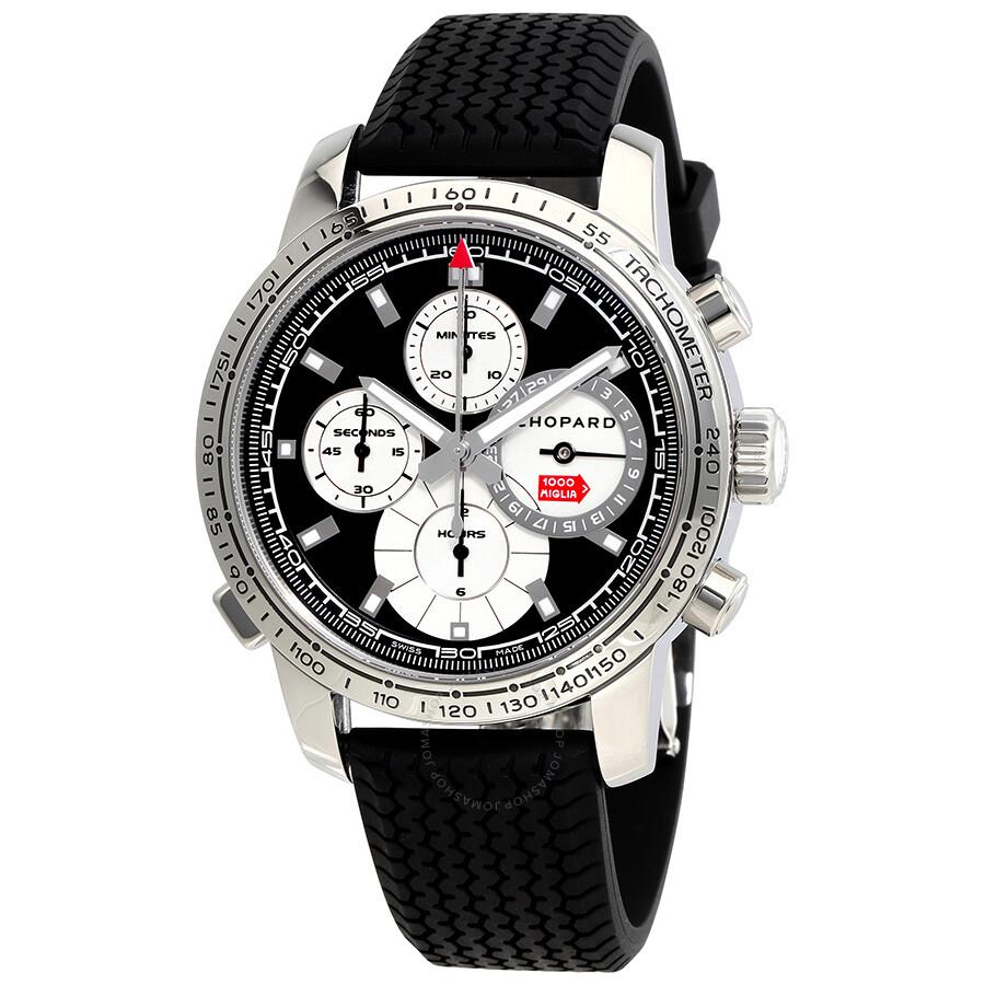 chopard mille miglia black dial black rubber men 39 s watch. Black Bedroom Furniture Sets. Home Design Ideas