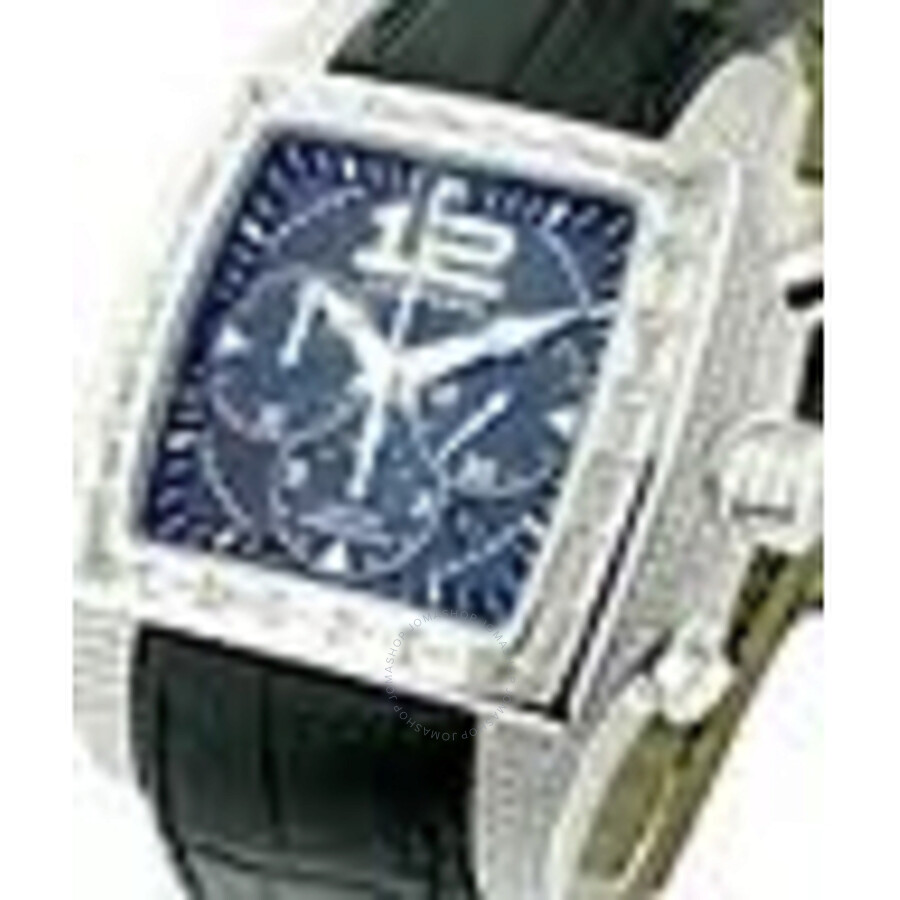Chopard Two O Ten Blue Arabic-Index Dial Black Alligator Leather Automatic M..