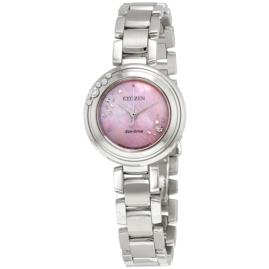 of dial mother g watches steel misaki pearl watch stainless gucci ladies