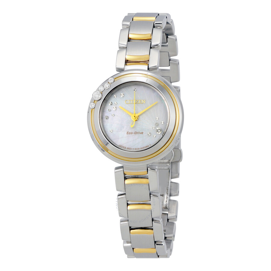 Citizen Carina Mother of Pearl Dial Ladies Watch EM0464-59D