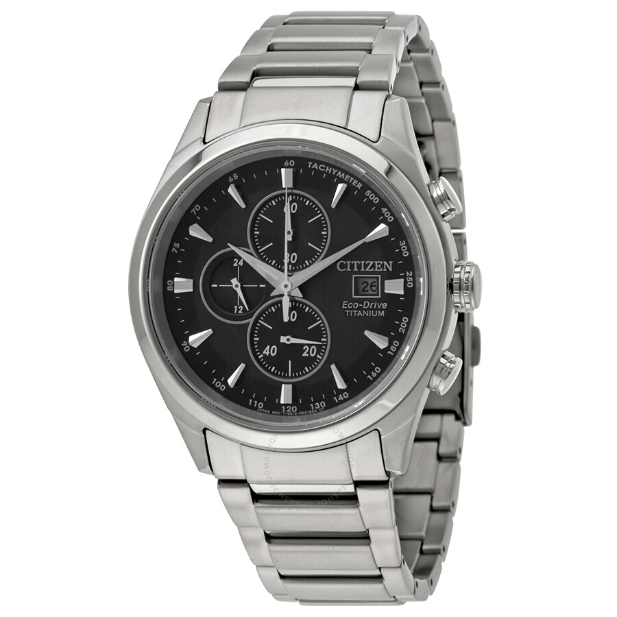 Citizen Chandler Chronograph Black Dial Mens Watch CA0650-58E