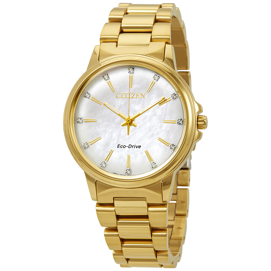 Citizen Chandler Diamond White Mother of Pearl Dial Ladies Watch FE7032-51D