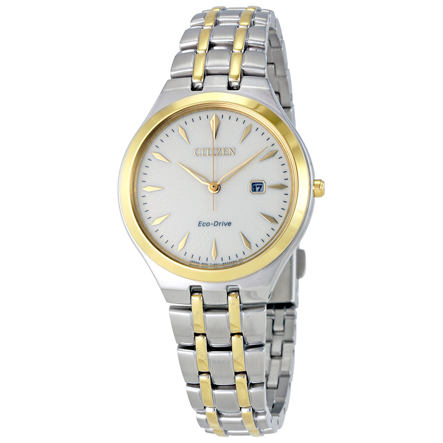 Citizen Corso White Dial Two-tone Ladies Watch EW2494-54A