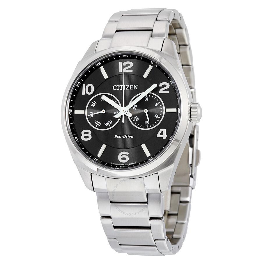 citizen eco drive black dial men s watch ao9020 84e eco drive