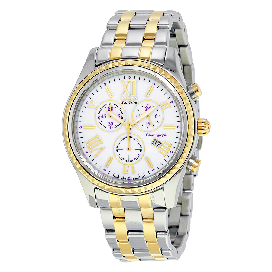 Citizen Eco-Drive Chronograph Two-Tone Stainless Steel Ladies Watch FB1364-53A