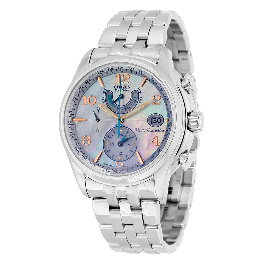 Citizen eco drive mother of pearl dial ladies watch fc0000 59d eco drive citizen watches for Pearl watches