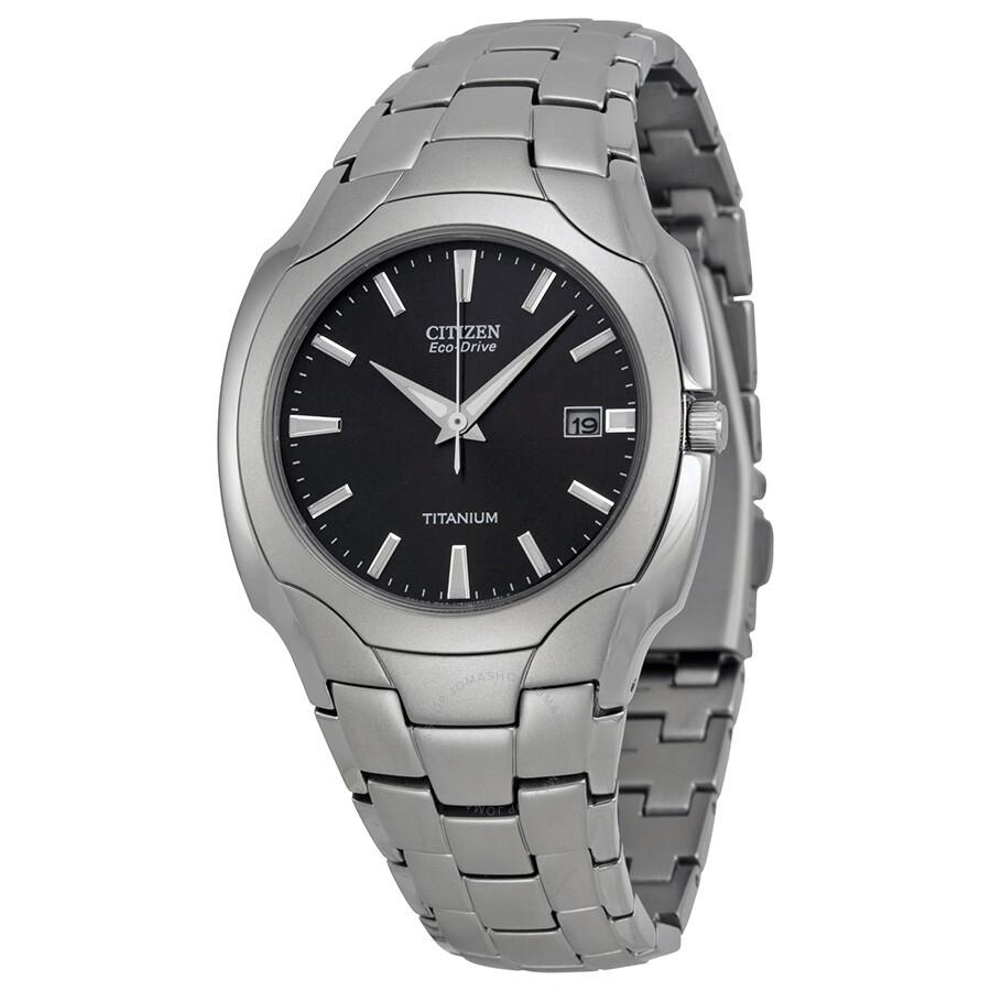 Citizen Men's Eco Drive Black Dial Titanium Watch BM6560 ...