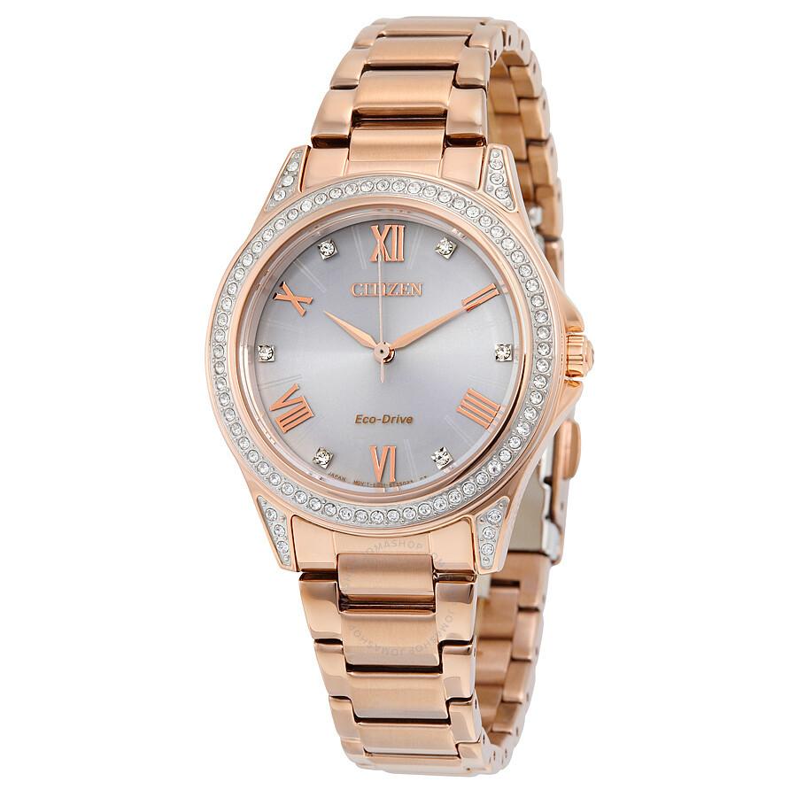 Citizen POV Eco-Drive Rose Gold-tone Ladies Watch EM0233-51A