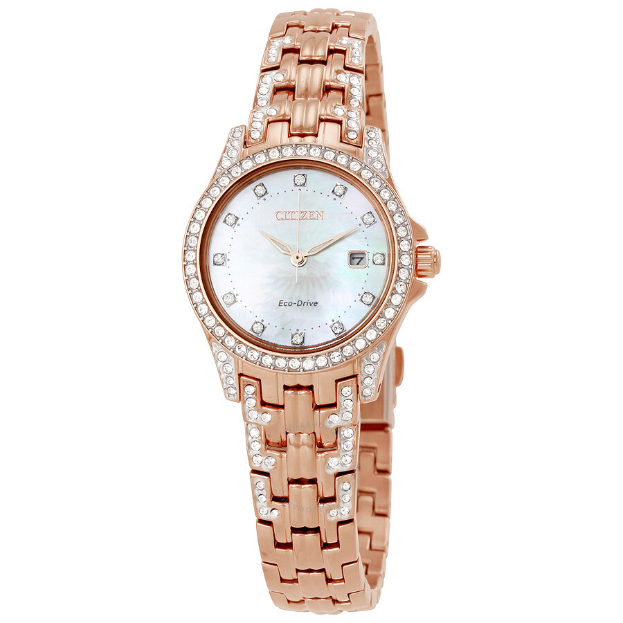 Citizen Silhouette Crystal Eco-Drive Ladies Watch EW1228-53D