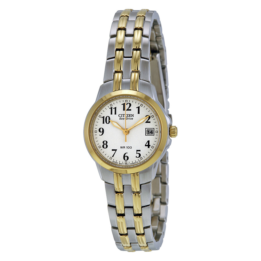 Citizen Silhouette Eco-Drive White Dial Two-tone Ladies Watch EW1544-53A