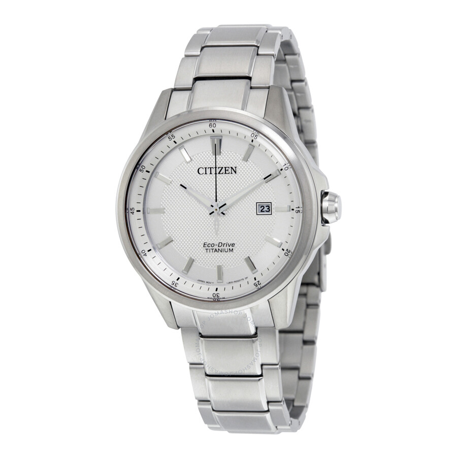 Citizen TI + IP Silver Dial Mens Watch AW1490-50A