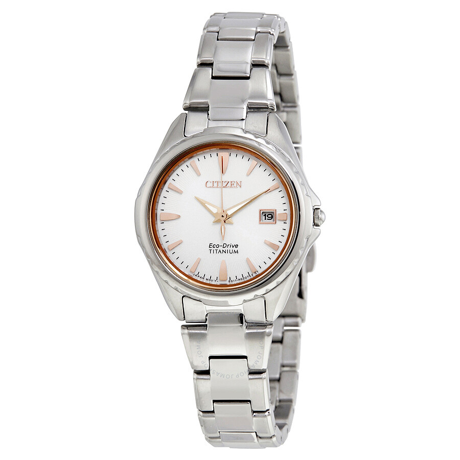 Citizen Titanium Silver Dial Ladies Watch EW2410-54A