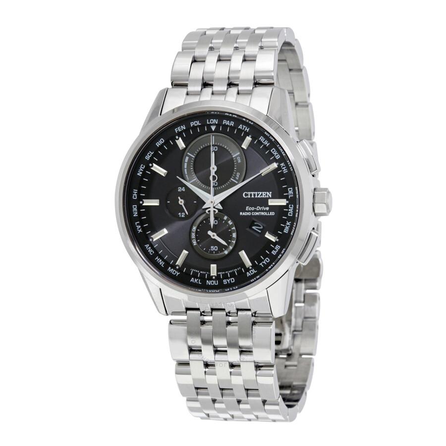 Citizen world chronograph a t eco drive men 39 s watch at8110 53e world time a t citizen for Citizen watches