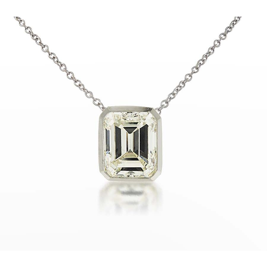 Classy Emerald Cut Pendant with Chain  2.37 CT