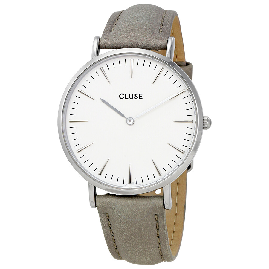 cluse watches green co boheme ladies watch front la leather watchmax uk