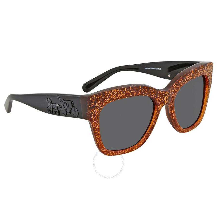 7c9ae31013 ... inexpensive coach amber saddle glitter square sunglasses eb02f 7c6db