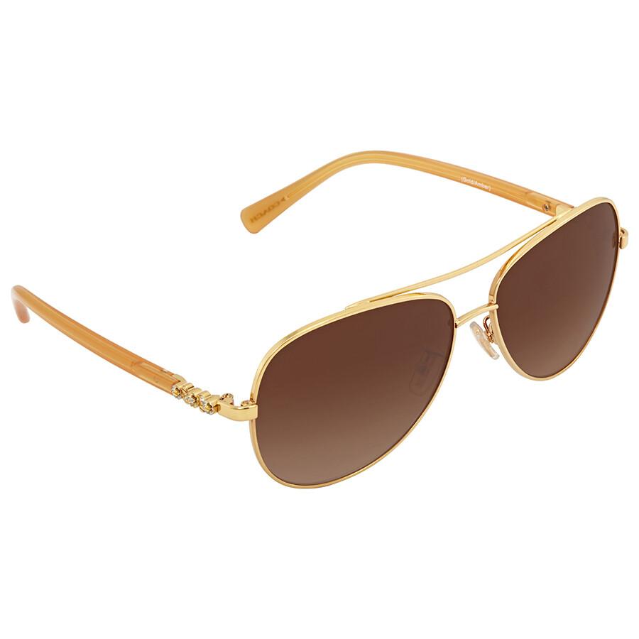 f58dafe23f ... canada coach brown gradient aviator sunglasses 2a239 fa2bf