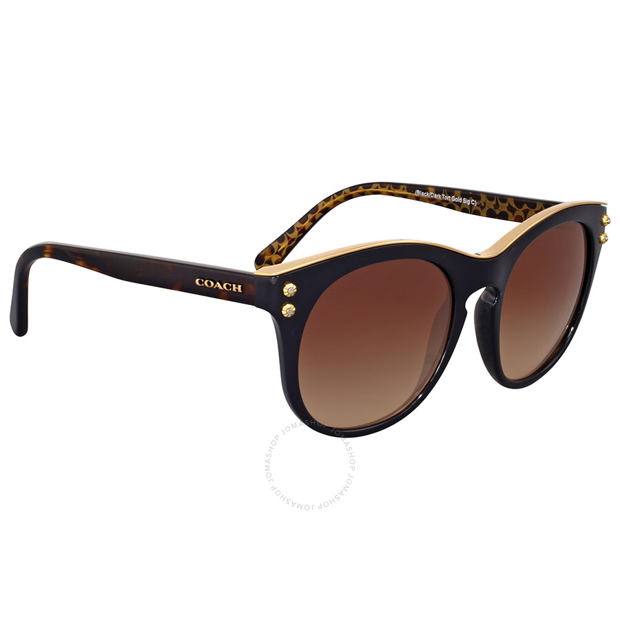 2b1c93a612bd ... where to buy coach brown gradient cat eye sunglasses coach brown  gradient cat eye sunglasses 0c756