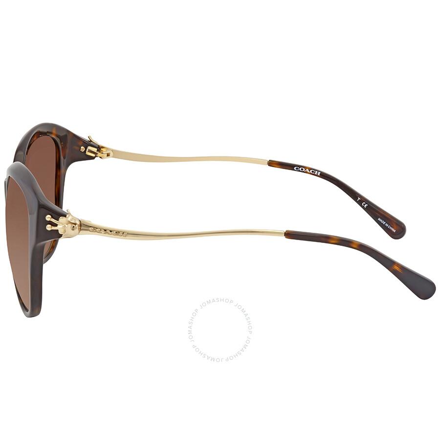 78614bec84df ... switzerland coach brown gradient cat eye sunglasses 241c5 235ed