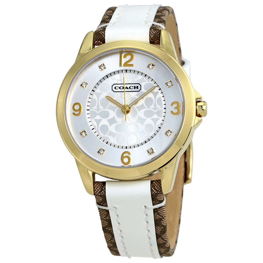 Coach Classic Signature Silver Dial Ladies Watch 14501618