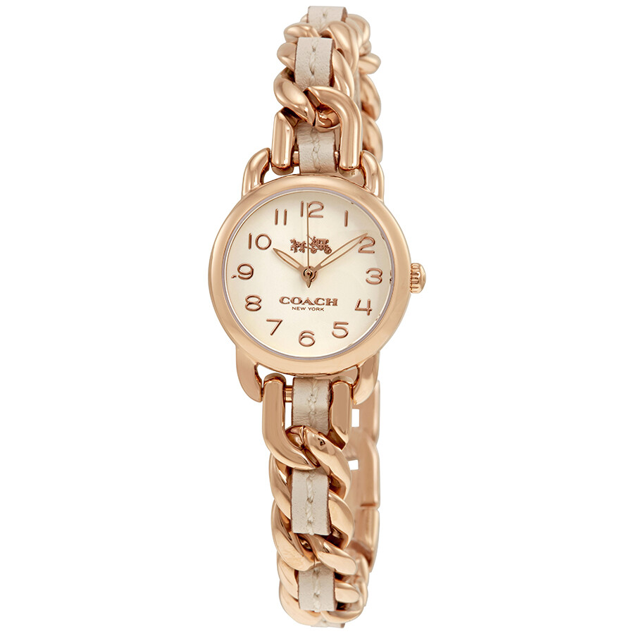 Coach Delancey Ladies Stainless Steel and Leather Bangle Watch 14502726