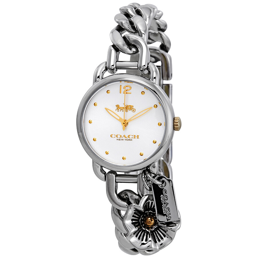 Coach Delancey White Dial Stainless Steel Ladies Watch 14502869