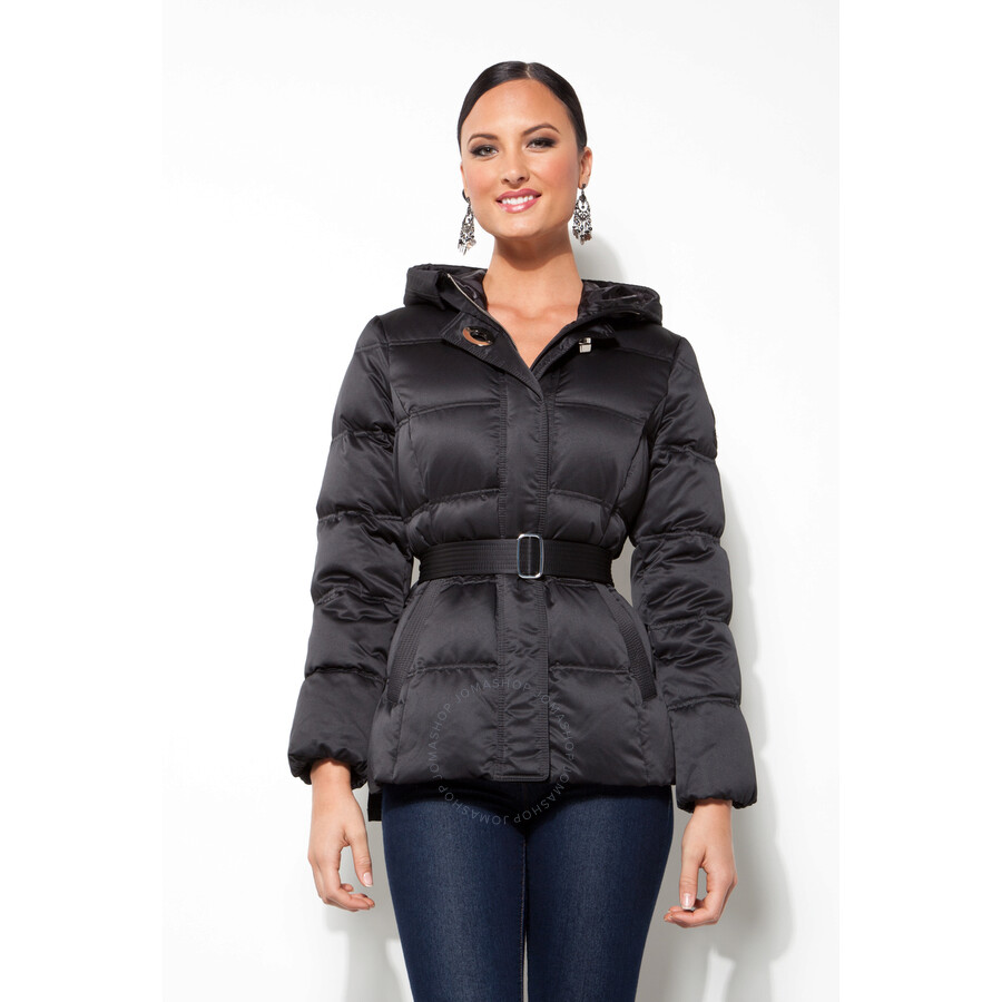 Coach Ladies Black Nylon Down Coat - Size Extra Small