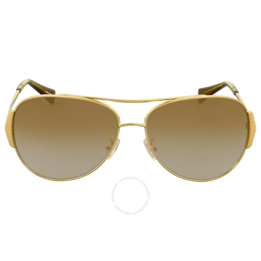 07a0089dbced ... discount top quality coach milky olive gold aviator sunglasses 739ce  b8441 10a93 fca84