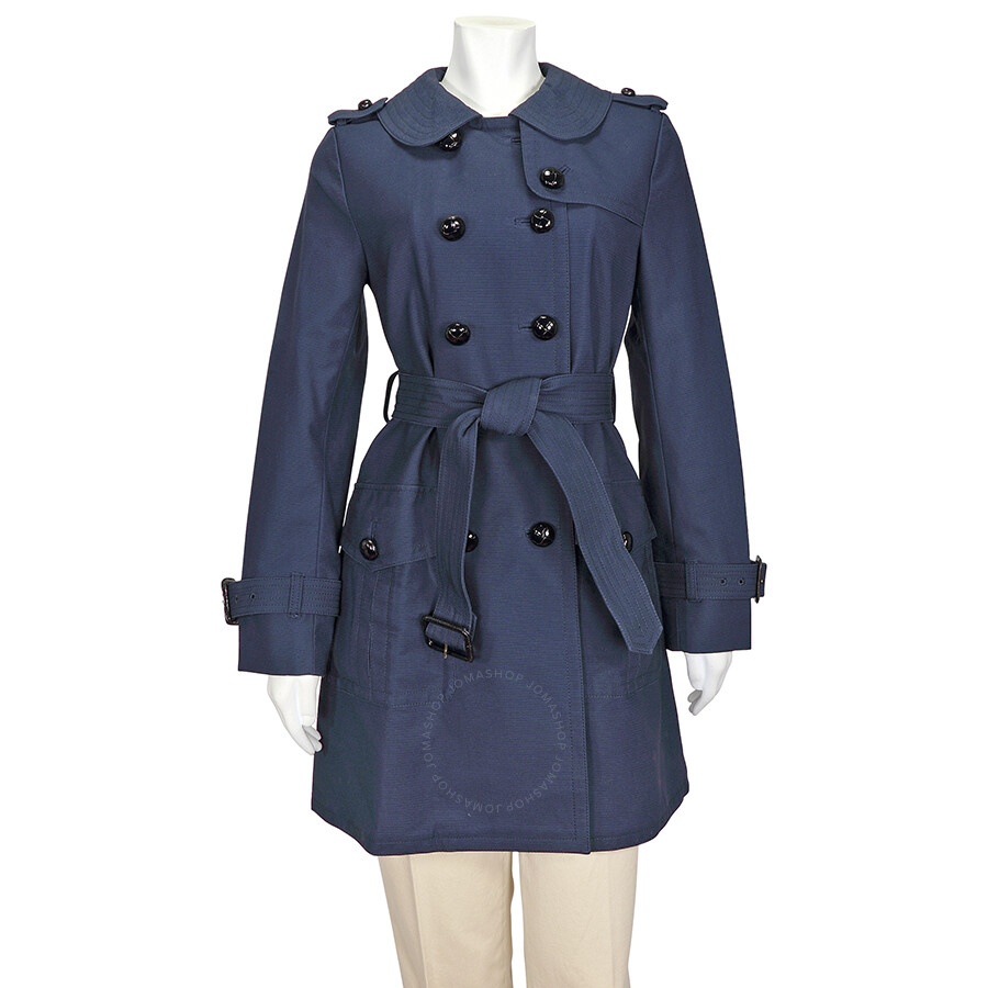 Coach Navy Blue Great American Double Breasted Trench Coat - Size 8