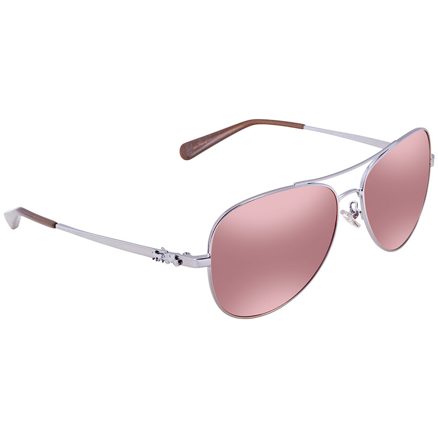 c9780f603e ... top quality coach pink mirror aviator sunglasses hc7074 90041t 59 5b45e  0c668
