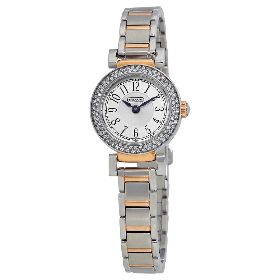 Coach White Dial Stainless Steel and Gold-Tone Ladies Watch 14502008