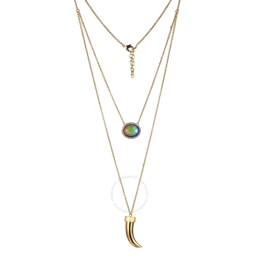 Color Changing 18k Yellow Gold and Fine Silver Plated Bronze Double Row Ther..